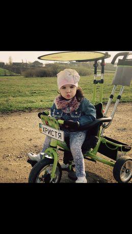 Велосипед трьохколісний для дівчинки