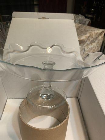 Patisserie prato para bolos de vidro polux