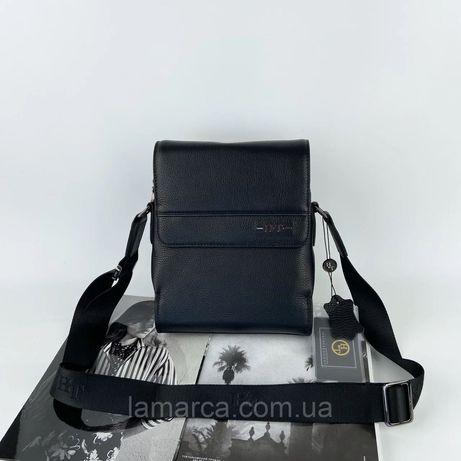 Мужская кожаная сумка на и через плечо H.T. Leather чоловіча шкіряна
