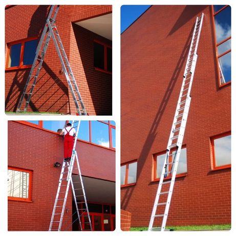 Розкладна драбина Лестница 3-секційна алюминиевая драбина Стремянка