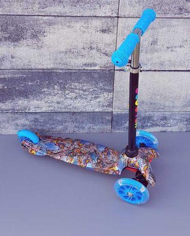 Trójkołowa hulajnoga scooter 2037/5 świecące kółka