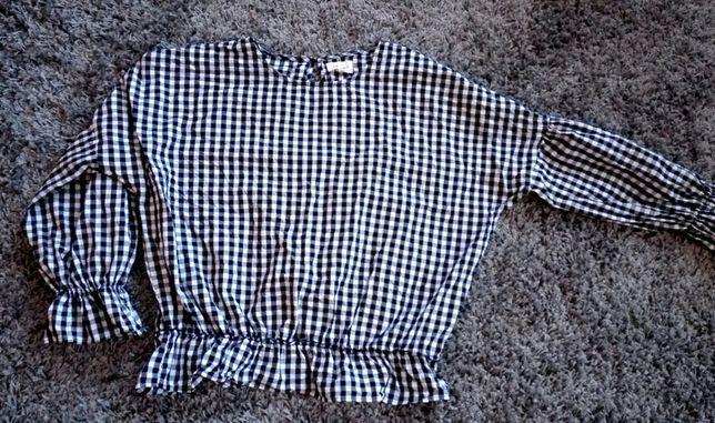 Bluzka hiszpanka baskinka w kratkę