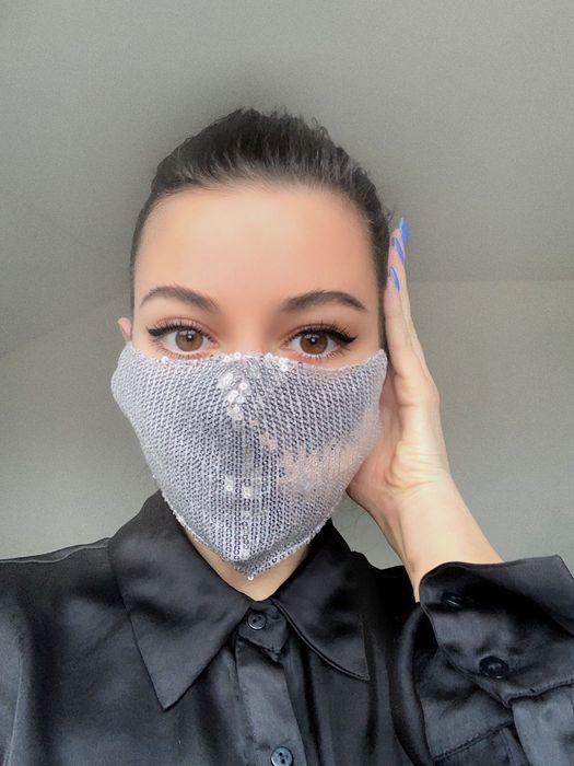 Защитная маска для лица, маски моющиеся, блестящая хлопковая маска Киев - изображение 1