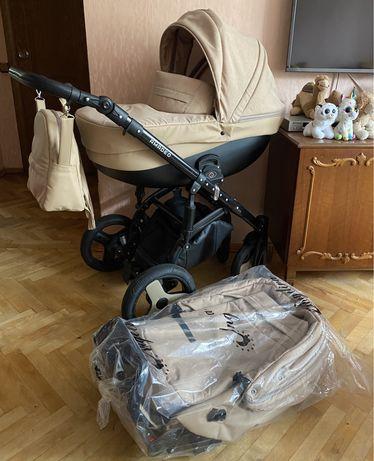 Новая универсальна коляска 2 в 1 - Angelina Amadeo Travel Бежевый)