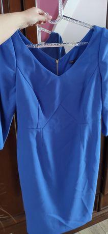 Elegancka chabrowa sukienka M&S