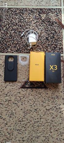 POCO X3 NFC w b.dobrym stanie. W zestawie etui i szkło ochronne