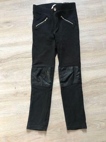 Getry leginsy spodnie czarne