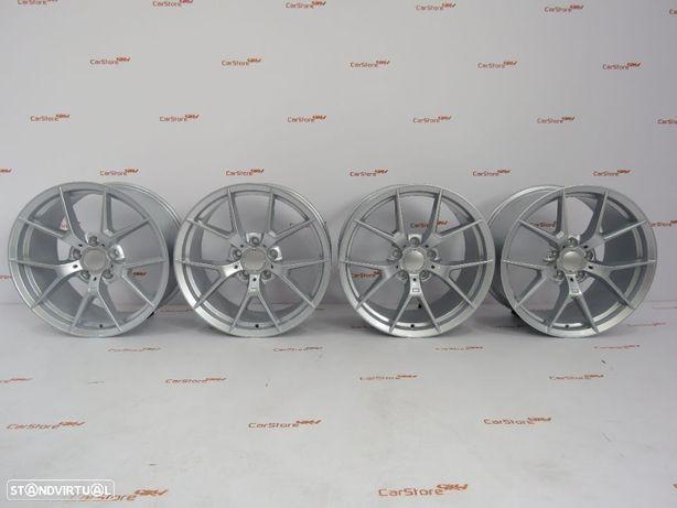 """Jantes Look Bmw M4CS 18 """" 8 et40 + 9 et48 5x120 Silver"""