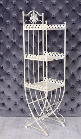 Regał metalowy biały przepiękny lu/paja203