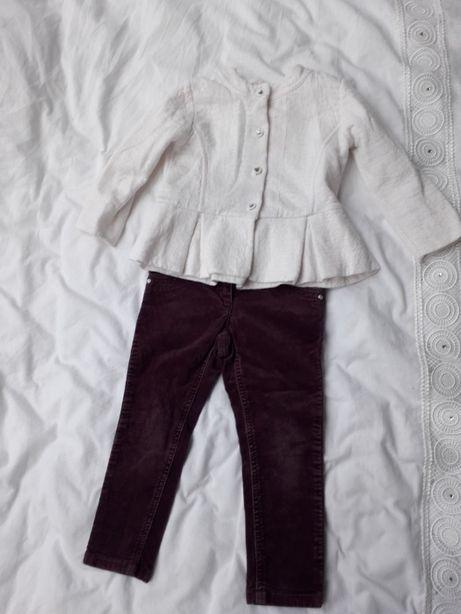 Zestaw żakiet bolerko +spodnie NEXT, Mała Mi r. 98