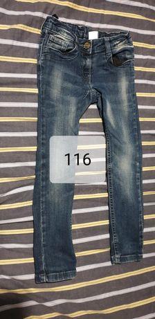 Spodnie jeansy skinny rozmiar 116