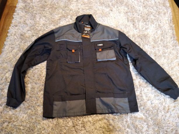 Bluza Męska Neo Tools Czarno szara L 52 wzmacniana ze ściągaczami