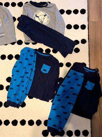 Piżamy paka zestaw 86 - 92 plus gratis dresy