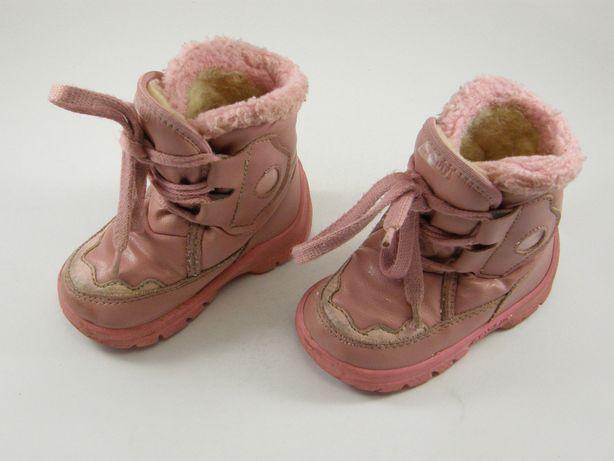 Ocieplane kozaczki ze skórki, buty na zimę, r. 21, Renbut