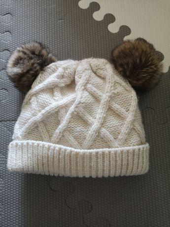 Czapka, rękawiczki jesień, zima F&F 6-12 miesięcy nowa