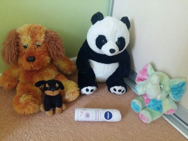 Мягкие плюшевые игрушки медведи