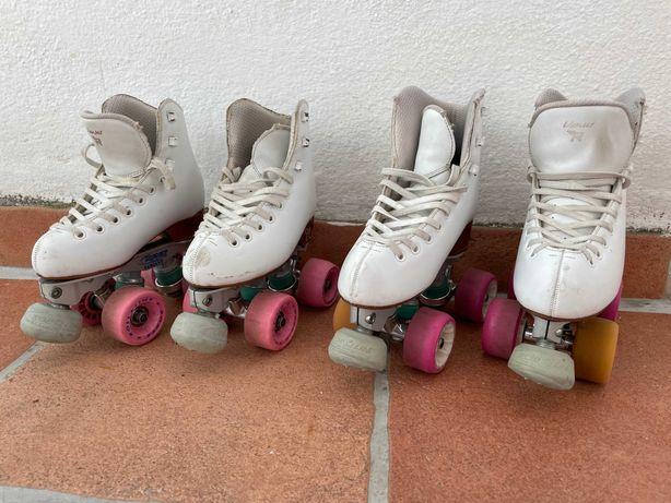 Patins de patinagem artística (2 pares), ideais para 6, 7, 8 e 9 anos