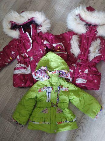 Детская куртка для девочки, демисезонная курточка на девочку 3-5 лет