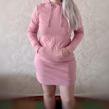 Платье-худи пудра