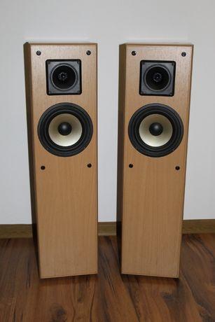DK Kolumny głośniki stylowe słupki w jasnym drewnie 2 way bass Wysyłka