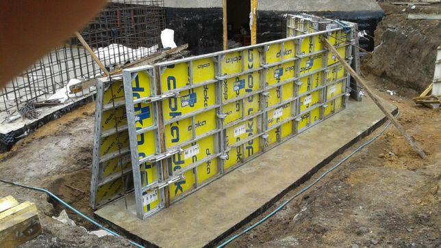 бетонные работы; подпорные стены; фундаменты; бассейны