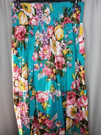 Юбка синие цветы Rokoko LaModa