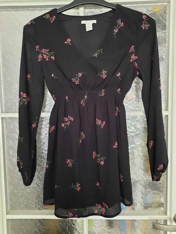 Bluzka ciążowa H&M Mama czarna roz XS