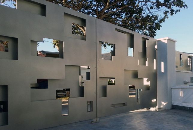 Ogrodzenie nowoczesne, nowoczesny wzór palisada ocynk