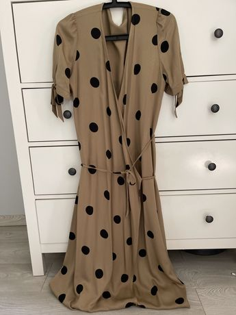 Le collet sukienka kopertowa w grochy roz M nowa