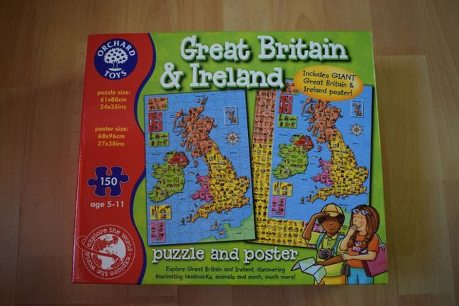 Orchard Toys Great Britain& Ireland puzzle