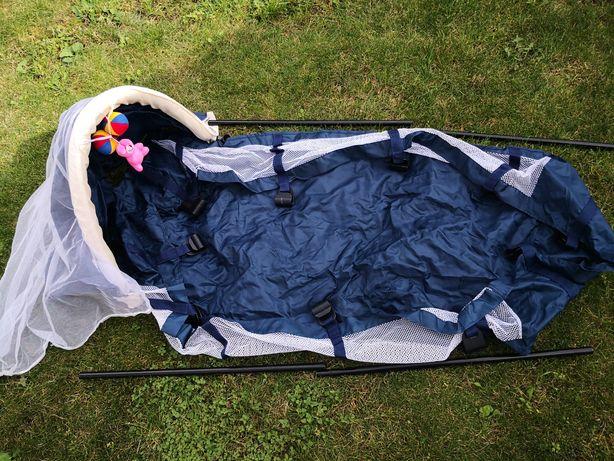 Wkład do łóżeczka turystycznego wraz z budą i moskitierą.
