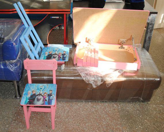 Стол, столик- парта + стульчик 2 шт детские с героями Холодное сердце