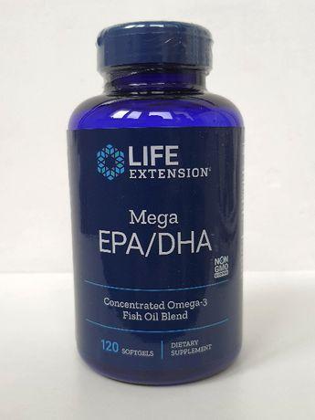 Рыбий жир омега-3 Life Extension Mega EPA DHA, 2000 мг, 120 капсул