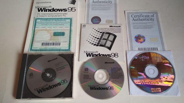 Windows 95  ORYGINALNY książka certyfikat wersja Polska