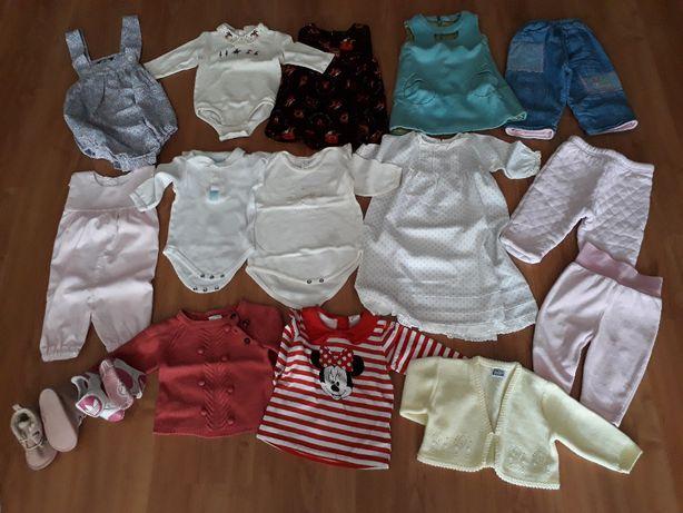 Roupa de Bebé Menina 3 a 6 Meses (16 peças)