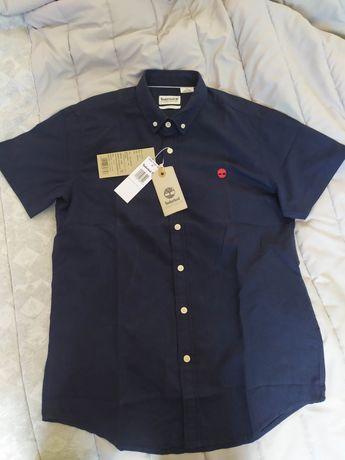 Camisa TIMBERLAND tamanho M azul navy