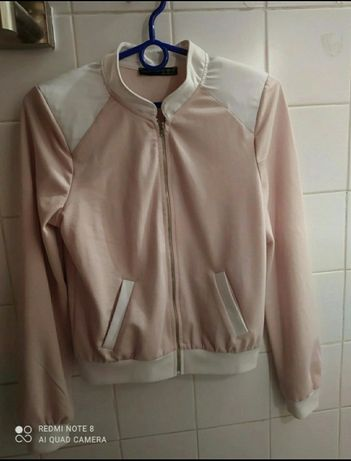 Bluza na zamek Atmosphere 36 xs/s Damska Nowa pudrowy róż