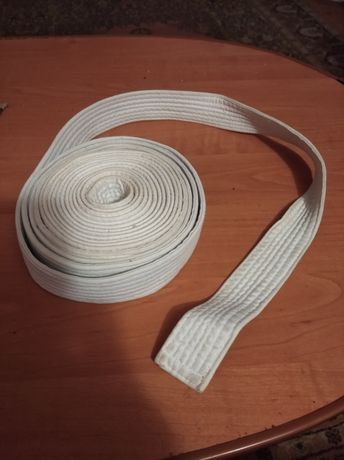 Пояс под кимоно для единоборств цвет белый