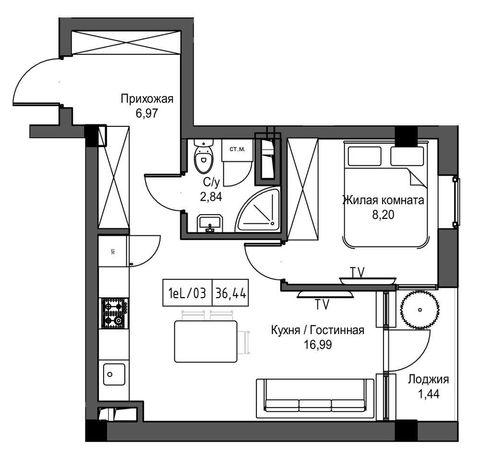 Продам 1-км квартиру в Урбан Маркет в рассрочку 16 800$. Сдача 05.22г.