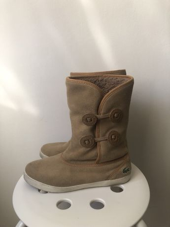 Женские сапоги ботинки угги Lacoste