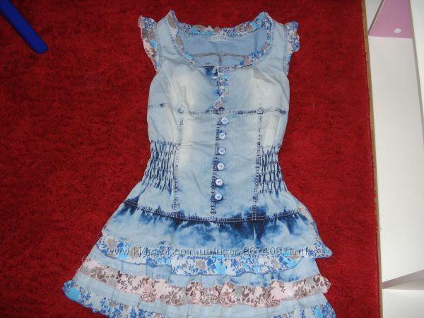 Джинсовое платья