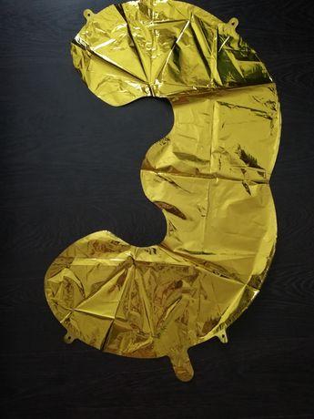 Воздушный фольга шар цифра 3
