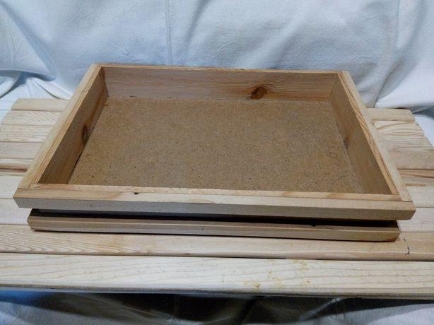 коробочка дерево 35 23 7 под творчество (цена за шт, всего 4 шт)