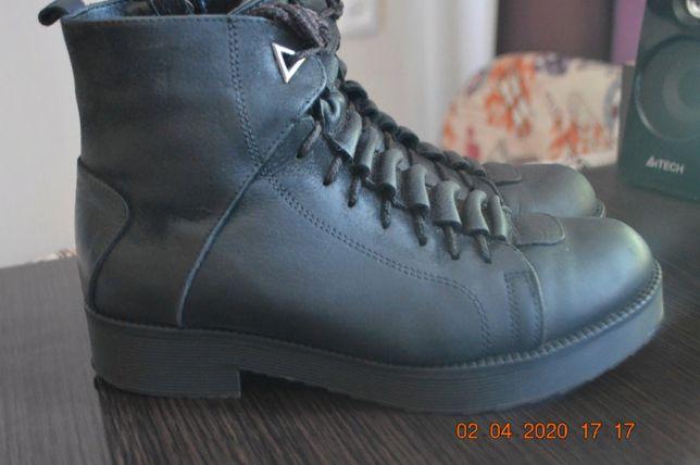 Зимн.ботинки кожа и нубук 37р(24см)