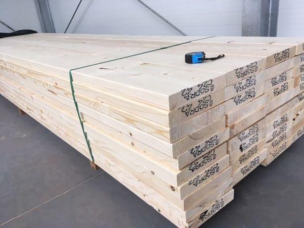 Drewno konstrukcyjne strugane C24 świerk skandynawski deski suche