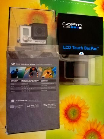 Экшн камера GoPro HERO 3+ Silver Edition + Сенсорный ЖК-дисплей GoPro