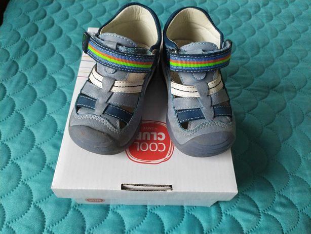 Sandały chłopięce sandałki r.21 skórzane kryte