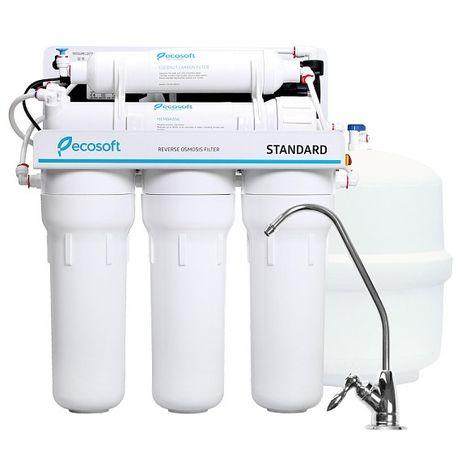Фильтр обратного осмоса Ecosoft Standard 5-50P с насосом (MO550PECOSTD