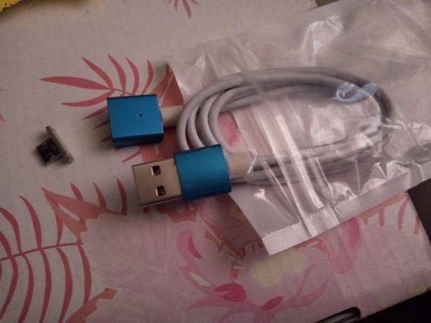 Kabel USB micro i typ c magnetyczny lub święcący 2 rodzaje powerbank