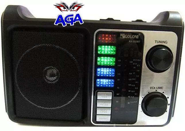 Radio Golon RX-333 FM/AM/SW Akumulator Latarka MP3 USB SD